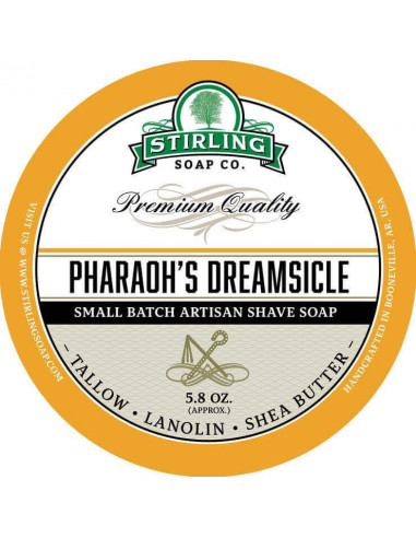 Skūšanās ziepes Stirling Soap Pharaoh's Dreamsicle 170ml