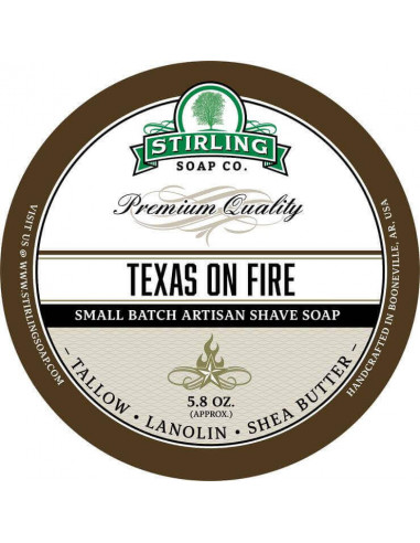 Skutimosi muilas Stirling Soap Texas on fire 170ml