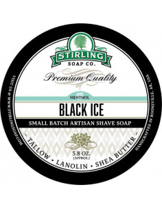 Skutimosi muilas Stirling Soap Black Ice 170ml