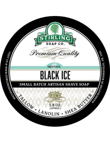 Skūšanās ziepes Stirling Soap Black Ice 170ml