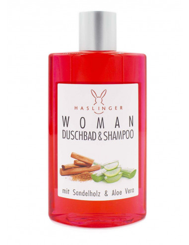 Haslinger šampūnas ir dušo gelis moterims Sandalwood, Aloe Vera