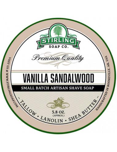 Skutimosi muilas Stirling Soap Vanilla Sandalwood 170ml