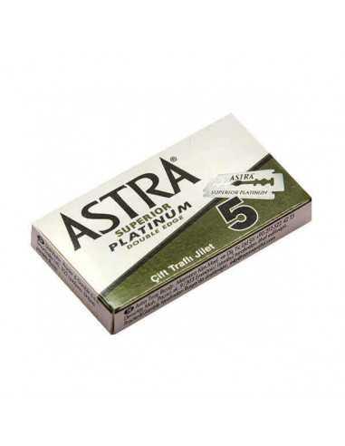 Astra Platinum dviašmeniai skutimosi peiliukai 5 vnt