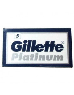 Gillette Platinum dviašmeniai skutimosi peiliukai 5 vnt