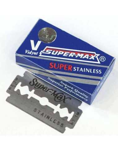 Super-Max Stainless divpusēji skūšanās asmeņi 10 gab
