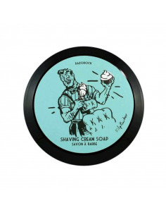 Razorock skutimosi kremas-muilas Blue Barbershop 150ml