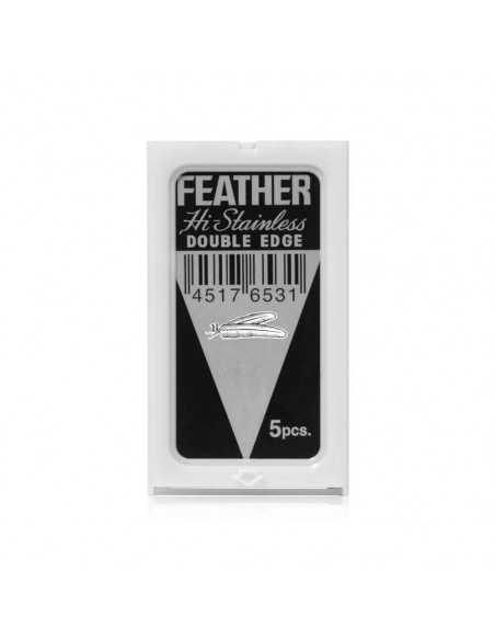 Feather divpusēji skūšanās asmeņi 5 gab