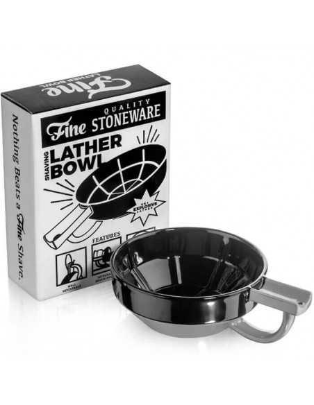 Fine Accoutrements skūšanās kauss melnā un pelēkā porcelāna krāsā