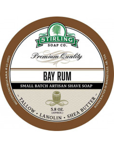 Skutimosi muilas Stirling Soap Bay Rum 170ml