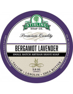 Skutimosi muilas Stirling Soap Bergamot Lavender 170ml