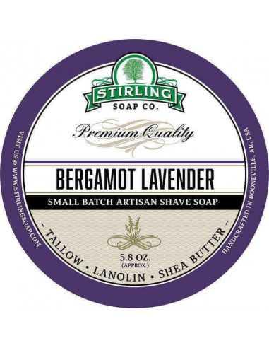 Skutimosi muilas Stirling Soap Bergamot Lavender 170ml