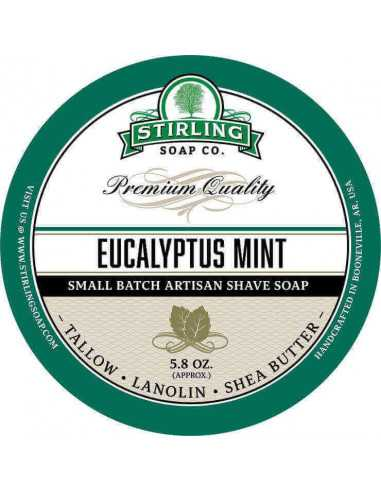 Skūšanās ziepes Stirling Soap Eucalyptus Mint 170ml