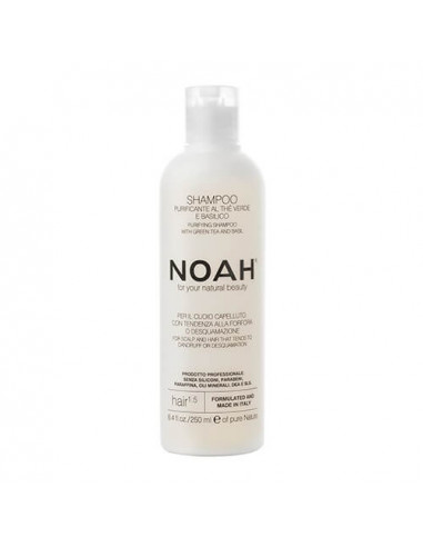 Noah 1.5. Šampūns ar zaļo tēju un baziliku pret blaugznām